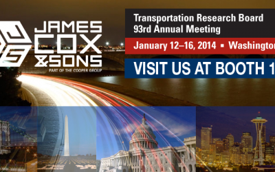 Meet us at TRB 93rd Annual Meeting, January 12-16, 2014